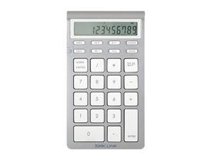 SMK-LINK VP6273 Silver/White Bluetooth Wireless Calculator Keypad