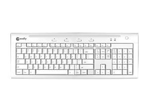 macally IKEY5U2 White USB Wired Slim Keyboard for Mac