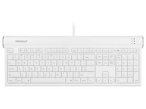 Macally USB 2.0 Slim Keyboard with Shortcut Function Keys