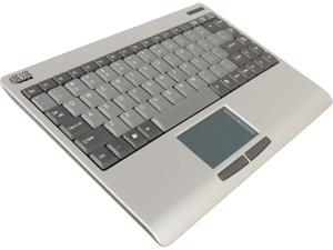 Adesso WKB-4000US SlimTouch 2.4 GHz RF Wireless Mini  Keyboard with Touchpad, with min USB receiver and receiver pocket (Silver / grey)
