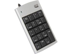ADESSO AKP-150 Black / Silver USB Wired Slim Numeric Keypad with Retractable Cord