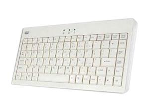 ADESSO AKB-110W White USB or PS/2 Wired Mini Keyboard