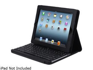 ADESSO Compagno 3 WKB-1000DB Black Bluetooth Wireless Slim Switch Keyboard with Carrying Case for iPad