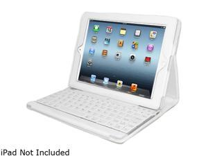 ADESSO Compagno 3 WKB-1000DW White Bluetooth Wireless Slim Switch Keyboard with Carrying Case for iPad