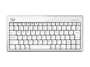 ADESSO WKB-1010BW White Bluetooth Wireless Mini Keyboard 1010 for iPad