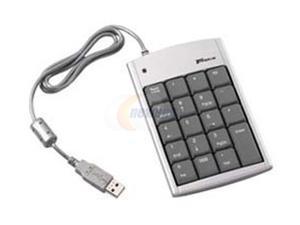 Targus PAKP004U Silver/Black USB Wired Mini Numeric Keypad with 2-port Hub