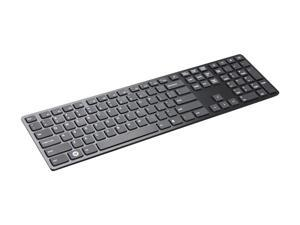 i-rocks KR-6402-BK Black USB Wired Slim Aluminum X-Slim Keyboard for PC