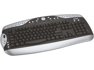 inland 70129 Silver & Black PS/2 Standard Keyboard with Office Application