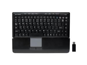 GEAR HEAD KB4950TPW Black USB RF Wireless Mini Touch II Touchpad Keyboard