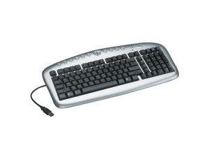 TRIPP LITE IN3005KB Silver and Black USB Wired Multimedia Keyboard