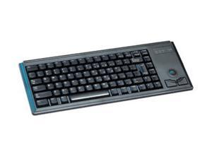 "CHERRY Ultraslim 4400 Series G84-4420LPBEU-2 Black PS/2 Wired Slim 15"" Keyboard w/ optical trackball"