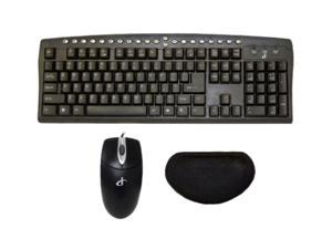 I Concepts PC Desktop Trio 91050N Black PS/2 Wired Keyboard