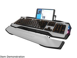 ROCCAT SKELTR Smart Communication RGB Gaming Keyboard - White