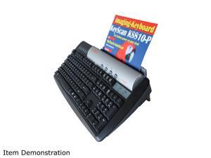 KeyScan KS810-P Black USB Wired Standard Keyboard with built in USB 2.0 Hub and Integrated Color Document Scanner