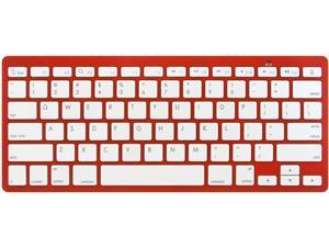 Rocksoul BK-101001RW Red Bluetooth Wireless Slim Keyboard for Apple  Devices