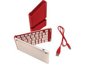 iwerkz 44652RD Red USB Bluetooth Wireless Mini Universal Foldable Keyboard