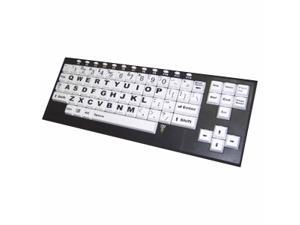 chestercreektech VisionBoard2 VB2 Black/White USB Wired Large Key Keyboard