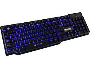 ENHANCE GX-K3 Backlit Gaming Keyboard with 104 MechanicalFeel Hybrid Keys , Multimedia Hotkeys & 3 LED Backlight Colors