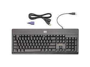 HP VF097AA#ABA Black Wired Washable Keyboard - US Eng Loc