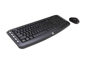 HP Classic Desktop LV290AA#ABA-BP Black USB RF Wireless Ergonomic Keyboard & Mouse