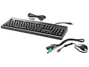 HP USB PS 2 Washable Keyboard and Mouse BU207AA#ABA Black USB or PS/2 Wired Washable Keyboard and Mouse