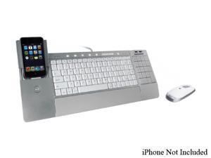 iHome - iConnect Media Keyboard + Wireless Laser Mouse - SILVER (IH-K236LS)