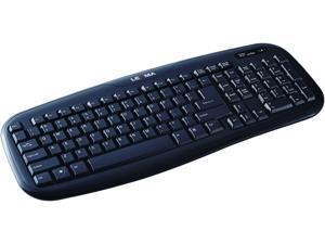 LEXMA LS6411R Black USB RF Wireless Standard Keyboard & Mouse