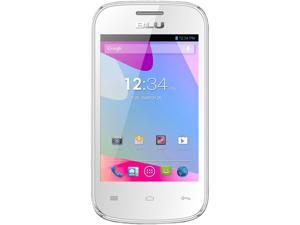 BLU Dash JR D140 White Unlocked GSM Cell Phone with 3.5-inch Touch Screen, 1.0GHz Processor, Android 2.3, 2MP Camera and ...