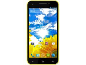 Blu Studio 5.5 D610A 3G Unlocked Cell Phone - Quad-Core 1.2GHz, GSM, Dual-SIM, Android - Yellow
