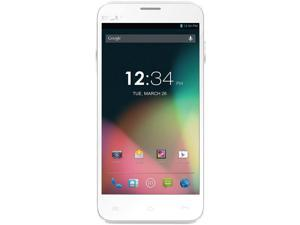 BLU Dash 5.0 D410a White 3G Dual-Core 1.3GHz 5.0MP Camera Dual-SIM Unlocked GSM Cell Phone