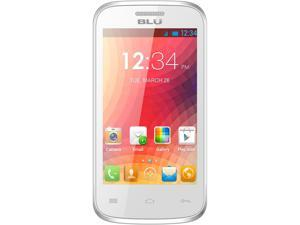 Blu Dash JR 4.0 D142 White 1.0GHz Unlocked GSM Dual-SIM Android Cell Phone