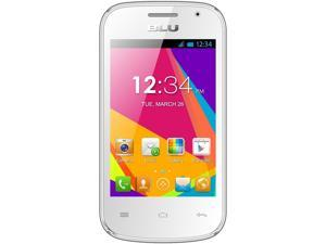BLU Dash JR D141w Unlocked GSM Dual-Core Android Phone - White