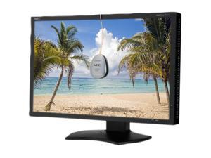 "NEC Display Solutions P241W-BK-SV Black 24"" 8ms Pivot, Swivel & Height Adjustable IPS Panel Widescreen LCD Monitor 360 cd/m2 ..."