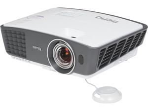 BenQ W770ST WXGA 1280x720 Short Throw Distance 2 HDMI Inputs 2500 ANSI Lumens 3D DLP Home Theater Projector