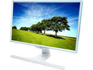 """SAMSUNG S24E370DL Glossy White PLS 23.6"""" 4ms Widescreen LED Backlight LCD Monitor&#59; Free-Sync Compatible w/ Wireless Phone Charging Capability"""