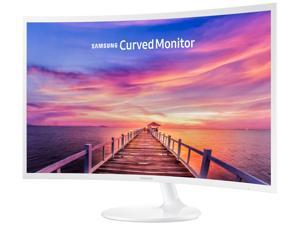 """SAMSUNG 391 Series C32F391 Glossy White 32"""" 4ms (GTG) HDMI Widescreen LED Backlight LCD Monitor Curved"""
