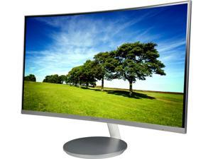 "SAMSUNG 591 Series C27F591 Silver 27"" Curved 4ms (GTG) 60Hz Refresh Rate Widescreen LCD/LED Monitor, AMD FreeSync, 250cd/m2 DCR Mega Infinity (3000:1), Built-in Speakers, D-Sub HDMI DisplayPort"