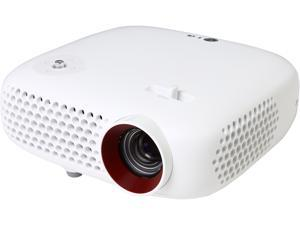 LG PW600G Portable 3D Ready LED DLP Projector, 1280 x 800, 100000:1, 600 ANSI Lumens, USB, Built-in Speaker