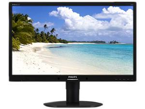 "PHILIPS 220B4LPCB Black 22"" 5ms Widescreen LED Backlight Height & pivot adjustable LCD Monitor"