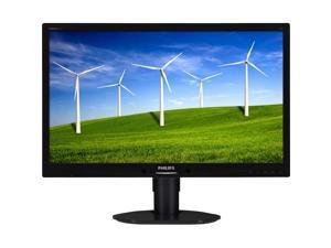"Philips 241B4LPYCB 24"" LED Monitor, 5 ms, VGA, DVI-D, Speakers, Height Adjust, Pivot, Tilt"