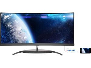 "PHILIPS BDM3490Uc Black 34"" Large Format Monitor AH-IPS"