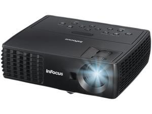 InFocus IN1110A 1024 x768 XGA 2100 Lumens, Contrast Ratio 2600:1, HDMI Input, 2GB Internal Storage, w/ Carrying Case, Light Weight for Easy Travel, DLP 3D Projector