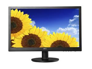 "AOC E2060SDA Black 20"" 5ms LED Backlight LCD Monitor built-in speakers"
