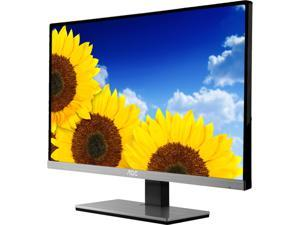 "AOC i2267Fw Black/Silver 22"" 5ms IPS Ultra-Narrow Bezel and Frameless LED Monitor, 250 cd/m2 50,000,000:1, Detachable Multi-Purpose Stand, Ideally Suited for Dual/Multiple Monitor Setups, D-Sub, DVI-D"