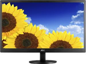 "AOC E2070SWN Black 20"" (19.5 Viewable) 5ms Widescreen LED Backlight LCD Monitor"