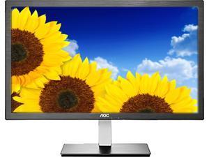 """AOC I2476VWM Black/Silver 23.6"""" 5ms LCD Monitor"""