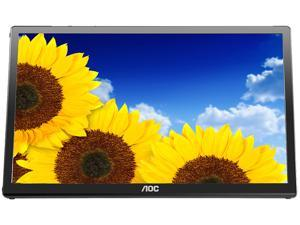 "AOC e1759Fwu 17.3"" 10ms USB Powered Portable LED Monitor, Ultra lightweight, Foldable Flexi-stand, VESA Mountable, Built-in DisplayLink Technology, USB 3.0, w/ carry Case"