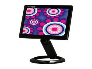 "DoubleSight DS-70U Black 7"" Height,Pivot & Tilt Adjustable USB LCD Monitor"