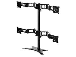 DoubleSight DS-430STA Quad Flex Stand with Adjustable Height, Tilt, Swivel and Pivot for Monitor