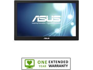 "ASUS MB168B Silver / Black 15.6"" 11ms Widescreen LED Backlight HD Portable USB-powered Monitor With 1 Year Extended Warranty"